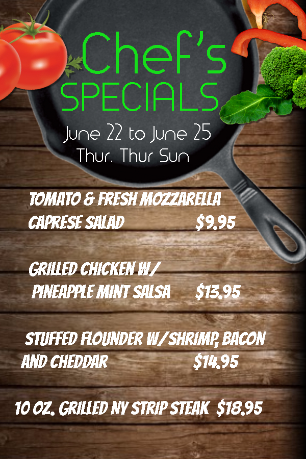 Chefs Special June 22 25