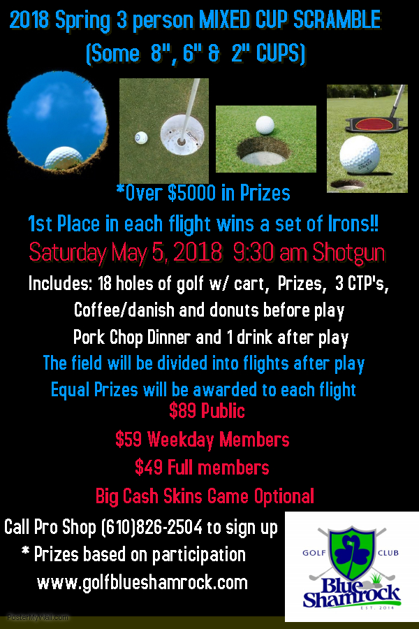 Mixed Cup Scramble Flyer